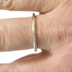 THICK 925 SILVER STACK RING